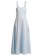 Gioia Bini | Gioia Bini - Lucinda Cotton Dress - Womens - Light Blue | Clouty