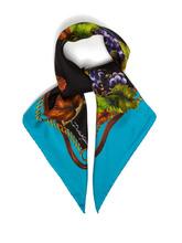 Dolce & Gabbana   Dolce & Gabbana - Vineyard Print Silk Twill Scarf - Womens - Blue   Clouty