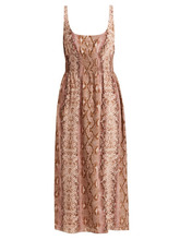 Emilia Wickstead - Giovanna Python Print Silk Dress - Womens - Animal