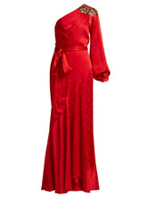 Temperley London   Temperley London - Parachute Embellished Satin Gown - Womens - Red   Clouty