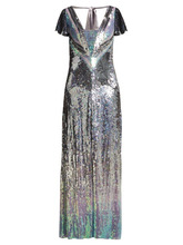 Temperley London   Temperley London - Ruth Ombre Sequinned Gown - Womens - Silver Multi   Clouty