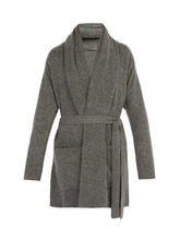 Denis Colomb | Denis Colomb - Cashmere Belted Cardigan - Mens - Grey | Clouty