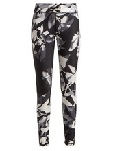 The Upside | The Upside - Floral Print High Rise Performance Leggings - Womens - Black White | Clouty