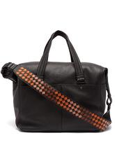 Bottega Veneta   Bottega Veneta - Intrecciato Strap Leather Weekend Bag - Mens - Black Multi   Clouty