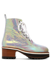 Sies Marjan | Sies Marjan - Jessa Iridescent Leather Ankle Boots - Womens - Multi | Clouty