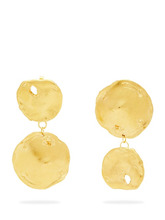Alighieri - Il Fuoco Gold Plated Mismatched Earrings - Womens - Gold | Clouty