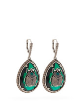 Alexander McQueen | Alexander Mcqueen - Beetle Crystal Embellished Earrings - Womens - Green | Clouty