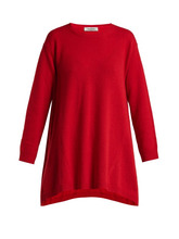 VALENTINO | Valentino - Draped Cashmere Sweater - Womens - Red | Clouty