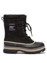 Sorel | Sorel - Caribou Faux Shearling Lined Snow Boots - Mens - Black | Clouty