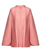 Alexander McQueen | Alexander Mcqueen - Draped Wool And Cashmere Blend Cape - Womens - Pink | Clouty