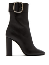 SAINT LAURENT | Saint Laurent - Joplin Leather Buckle Ankle Boots - Womens - Black | Clouty