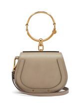 Chloé | Chloe - Nile Small Leather And Suede Cross Body Bag - Womens - Grey | Clouty
