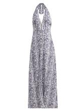 Heidi Klein | Heidi Klein - Kenya Python Print Halterneck Dress - Womens - Python | Clouty