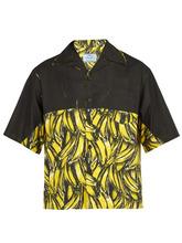 PRADA | Prada - Banana Print Cotton Shirt - Mens - Yellow | Clouty