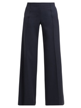Chloé | Chloe - High Rise Wide Leg Wool Trousers - Womens - Navy | Clouty