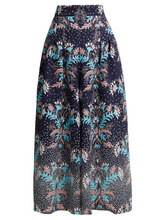 Peter Pilotto | Peter Pilotto - Floral Print Cloque Culottes - Womens - Navy Multi | Clouty
