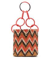 Sensi Studio | Sensi Studio - Print Toquilla Straw Basket Bag - Womens - Red Multi | Clouty