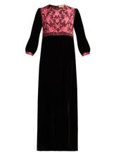 Muzungu Sisters | Muzungu Sisters - Touba Embroidered Velvet Dress - Womens - Black | Clouty