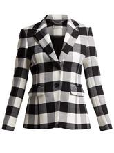 Altuzarra | Altuzarra - Fenice Wool Blend Blazer - Womens - Black White | Clouty