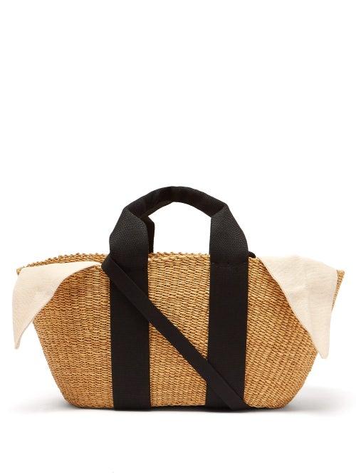 Muun   Muun - George Woven Straw Tote Bag - Womens - Cream   Clouty
