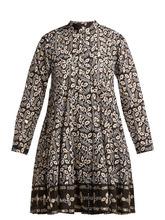 Juliet Dunn | Juliet Dunn - Leaf Print Cotton Jacket - Womens - Black Multi | Clouty
