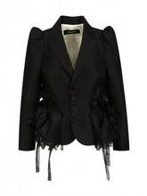 DSQUARED2 | Жакет из шерсти и шелка с объемными рукавами и кружевом | Clouty