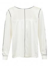 Marina Rinaldi | Блуза из шелка с контрастными вставками | Clouty