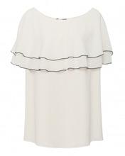 Marina Rinaldi | Блуза из шелка с драпировкой | Clouty