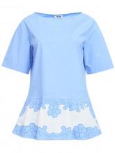 MOSCHINO | Блуза из хлопка с декоративной отделкой | Clouty