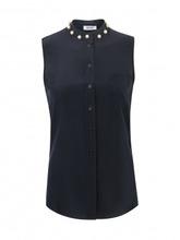MOSCHINO | Блуза из шелка с декоративными бусинами | Clouty