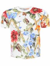Dolce & Gabbana | Футболка из хлопка с цветочным узором | Clouty