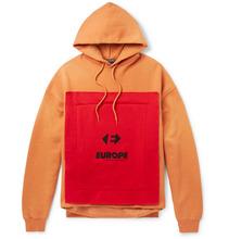 Balenciaga | Oversized Appliqued Fleece-back Cotton-blend Jersey Hoodie | Clouty