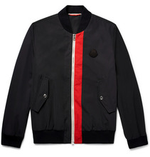 MONCLER | Joey Striped Shell Bomber Jacket | Clouty