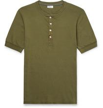 Schiesser   Karl Heinz Cotton-jersey Henley T-shirt   Clouty