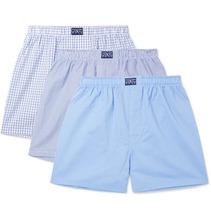 POLO RALPH LAUREN | Three-pack Cotton-poplin Boxer Shorts | Clouty