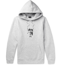 Stussy | Embroidered Fleece-back Jersey Hoodie | Clouty
