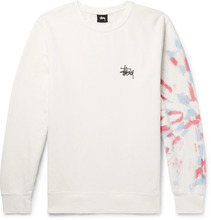 Stussy | Printed Fleece-back Cotton-blend Jersey Sweatshirt | Clouty