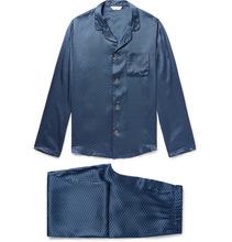 Derek Rose | Piped Printed Silk-satin Pyjama Set | Clouty