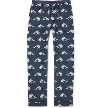 Desmond & Dempsey | Printed Cotton Pyjama Trousers | Clouty