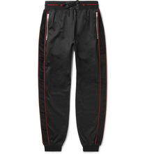 GIVENCHY | Logo-trimmed Fleece-back Jersey Drawstring Sweatpants | Clouty