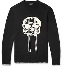 Alexander McQueen | Slim-fit Skull-intarsia Wool Sweater | Clouty