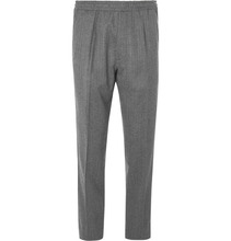 Berluti | Grey Slim-fit Tapered Herringbone Wool Drawstring Suit Trousers | Clouty