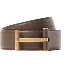 Tom Ford | 4cm Brown Full-grain Leather Belt | Clouty