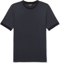Giorgio Armani   Slim-fit Contrast-trimmed Jersey T-shirt   Clouty