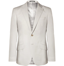 Richard James | Pale-grey Seishin Slim-fit Wool And Mohair-blend Suit Jacket | Clouty