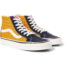 VANS | Anaheim Factory Sk8-hi 38 Dx Suede And Canvas High-top Sneakers | Clouty