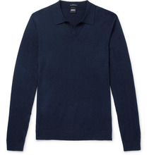 BOSS | Slim-fit Wool, Cotton And Cashmere-blend Polo Shirt | Clouty