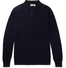 Brunello Cucinelli   Virgin Wool And Cashmere-blend Polo Shirt   Clouty