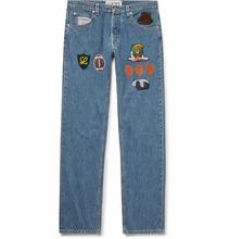 Loewe   Slim-fit Appliqued Denim Jeans   Clouty