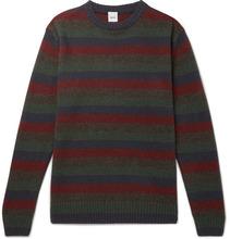 Aspesi | Slim-fit Striped Yak And Wool-blend Sweater | Clouty